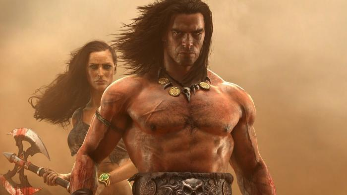 Screenshot of Conan Exiles using Granite SDK texture streaming