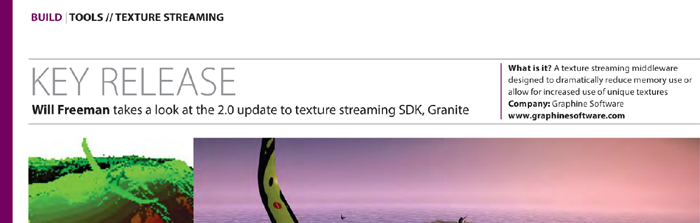 Develop Magazine Tools News Story About Granite SDK 2.0