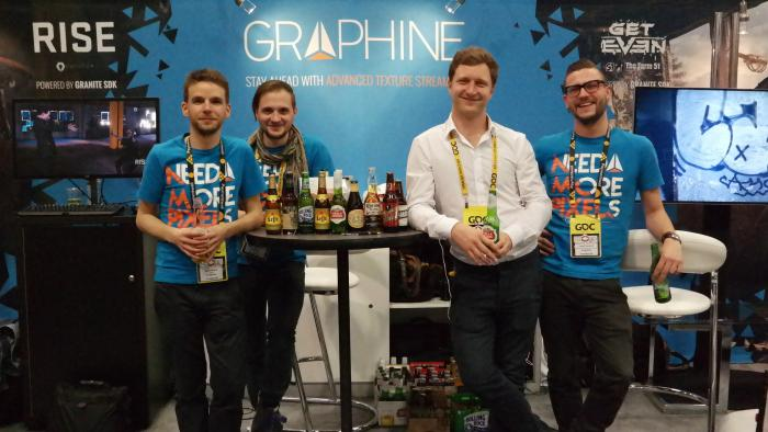 Picture of the Graphine booth at GDC 2015